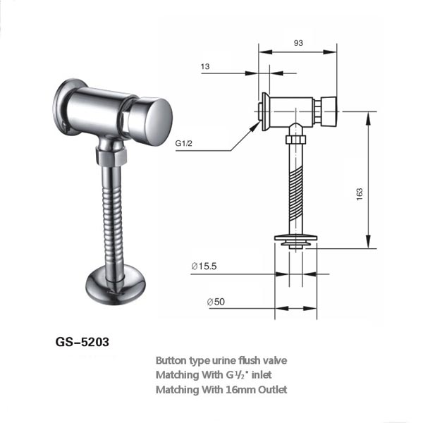 self closing urinal flush valve